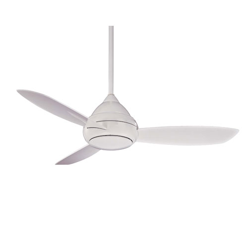 Concept I White 52-Inch Outdoor LED Ceiling Fan