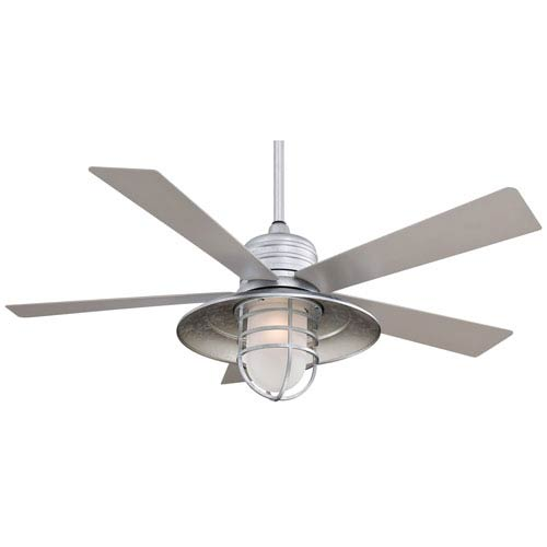 Minka Aire Rainman Galvanized 54 Inch Blade Indoor/Outdoor Ceiling Fan for Wet Locations