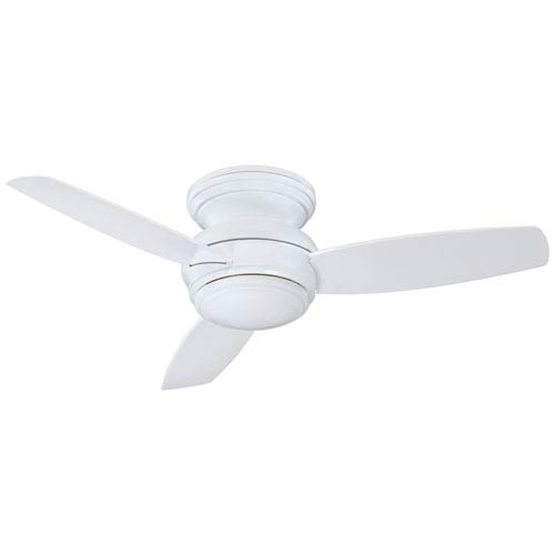 Traditional Concept White 44-Inch Outdoor LED Ceiling Fan