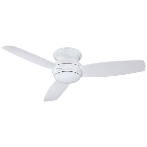 Traditional Concept White 52-Inch Outdoor LED Ceiling Fan