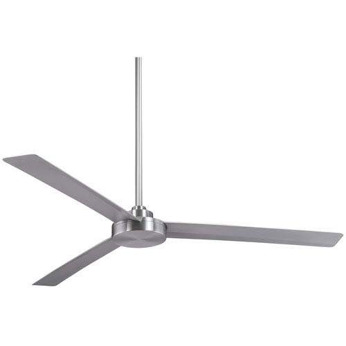 Roto Brushed Aluminum 62-Inch Outdoor Fan