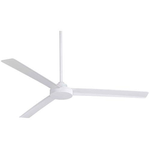 Roto Flat White 62-Inch Outdoor Fan