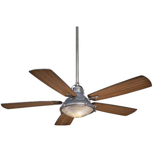 Minka Aire Groton Weathered Steel 56 Inch Two Light Fan