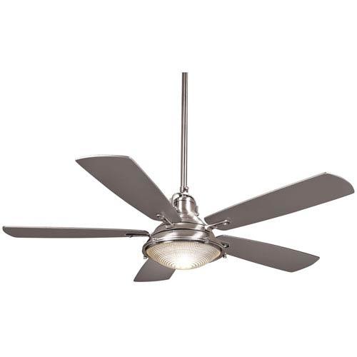 Groton Polished Nickel 56-Inch Two-Light Fan