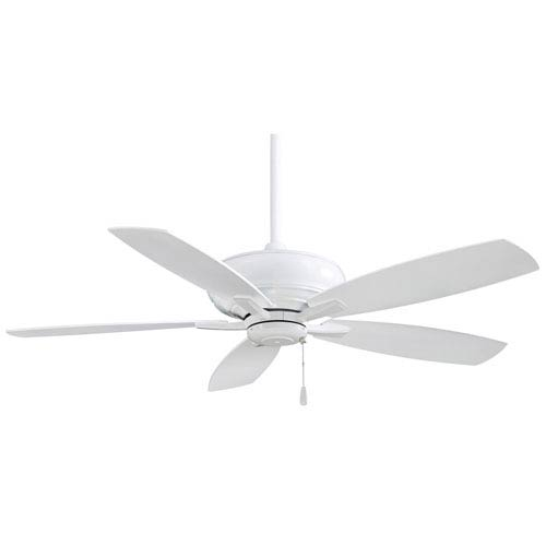 Minka Aire Kola 52-Inch Ceiling Fan in White with Five Blades