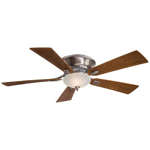 Delano II 52-In. Pewter Ceiling Fan with Natural Walnut Blades