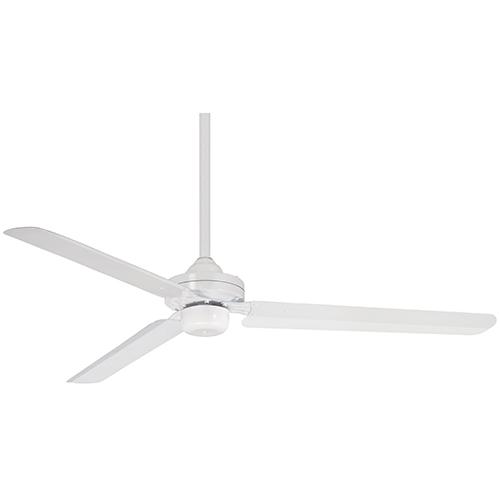 Minka Aire Steal Flat White 54-Inch Ceiling Fan