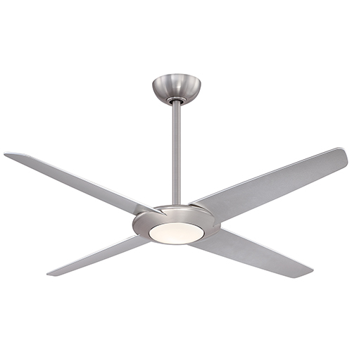 Pancake XL Brushed Nickel 62-Inch LED Ceiling Fan