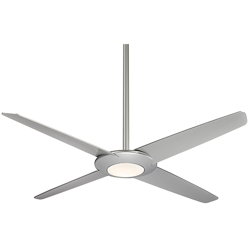 Pancake XL Silver 62-Inch LED Ceiling Fan