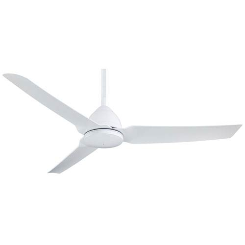 Java Flat White 54 Inch Blade Span Ceiling Fan