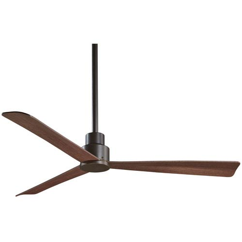 Simple Oil Rubbed Bronze 52-Inch Outdoor Fan