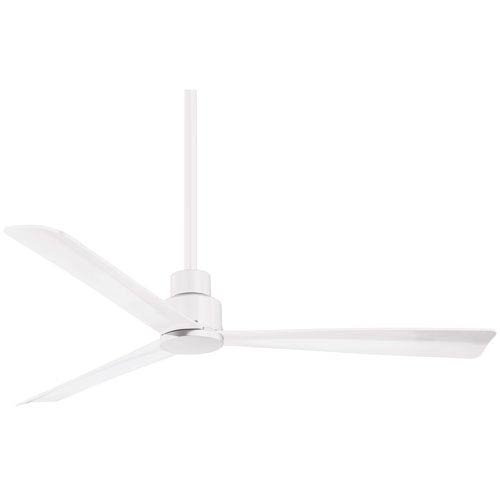 Simple Flat White 52-Inch Outdoor Fan