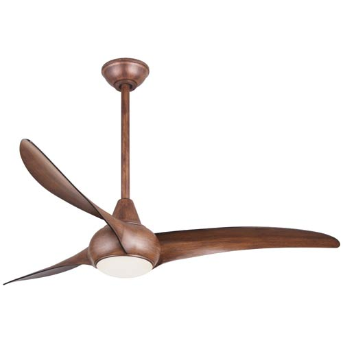 Light Wave 52-Inch LED Ceiling Fan in Distressed Koa Finish