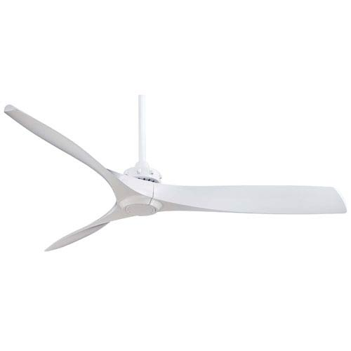 Aviation 60-Inch Ceiling Fan in White with Three Blades