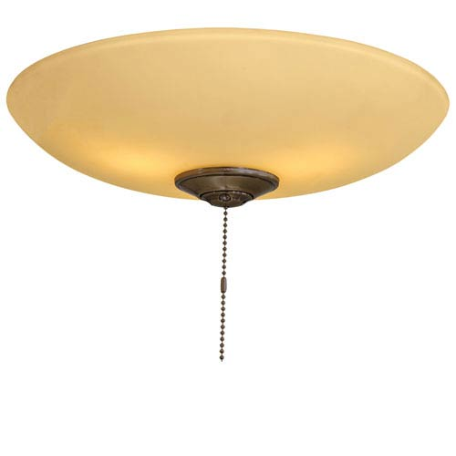Three Light Low Profile Universal Light Kit with Tea Stain Glass