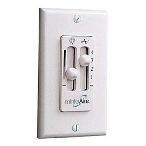 Four-Speed Ceiling Fan Wall Mount Control with Dimmer