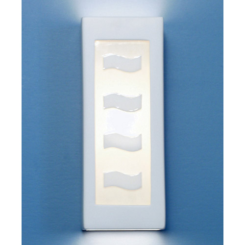 A-19 Lighting White Serenity Wall Sconce