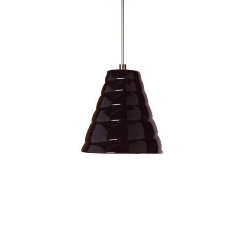 Vortex Low Voltage Black Gloss Mini Pendant