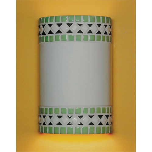A-19 Lighting Borders Mint Green Wall Sconce