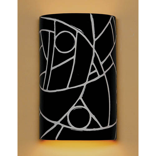A-19 Lighting Picasso Black Wall Sconce
