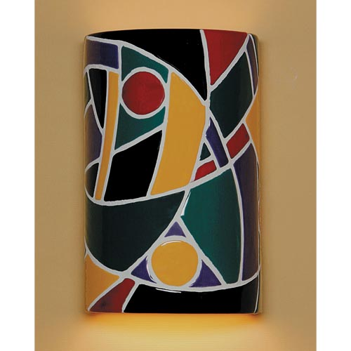 A-19 Lighting Picasso Multicolor Wall Sconce
