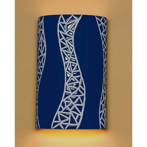 A 19 Lighting Page Cobalt Blue Wall Sconce