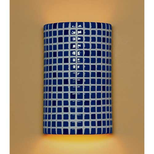 A-19 Lighting Confetti Cobalt Blue Wall Sconce