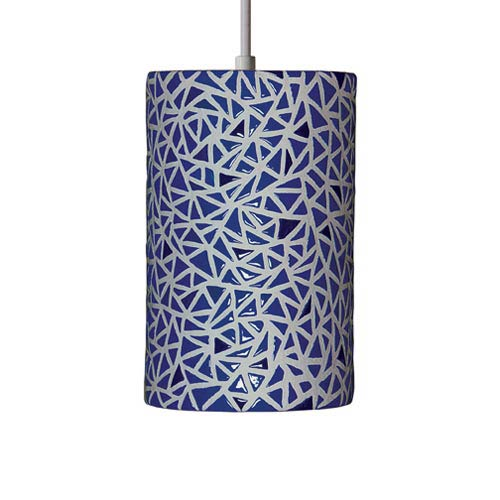 A-19 Lighting Impact Cobalt Blue Pendant