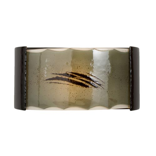 Storm Black Gloss and Seaweed Sconce