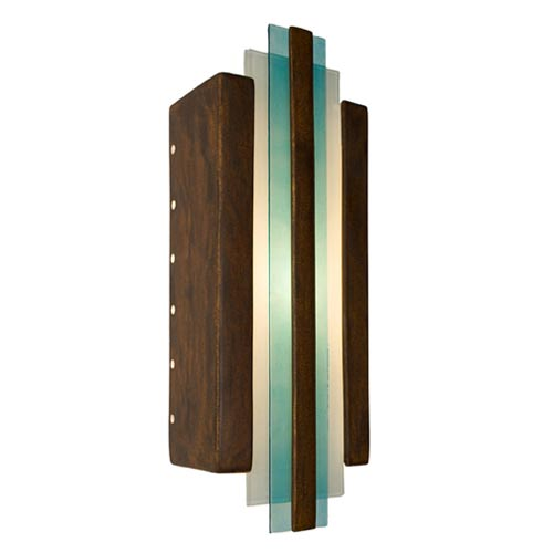 Empire Butternut and Turquoise Sconce