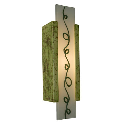 Squiggle Pistachio and Clover Sconce