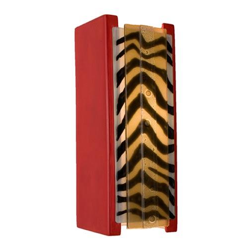 Safari Matador Red and Zebra Caramel Sconce