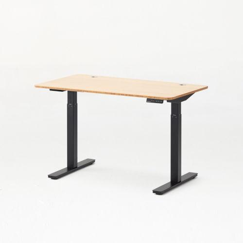 Autonomous Black Frame Bamboo Classic Top Adjustable Height Standing Desk