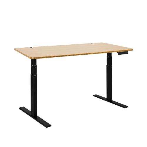 Autonomous Black Frame Bamboo Classic Top Premium Adjustable Height Standing Desk