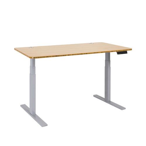 Autonomous Gray Frame Bamboo Classic Top Premium Adjustable Height Standing Desk