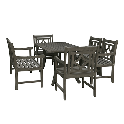 Gray Traditional Patio Dining Sets Free Shipping   Bellacor