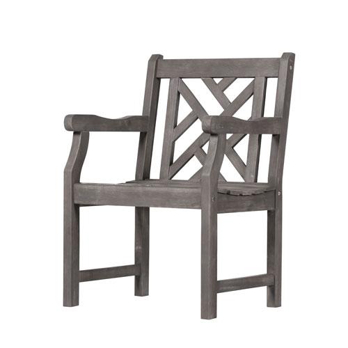 VIFAH Manufacturing Company Renaissance Outdoor Hand-scraped Hardwood Armchair