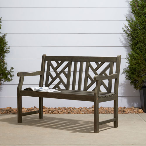 Renaissance Eco-friendly 4-foot Outdoor Hand-scraped Hardwood Garden Bench