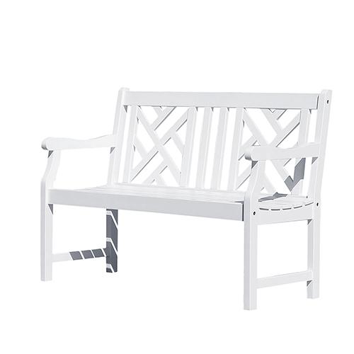 Bradley Eco-friendly 4-foot Outdoor White Wood Garden Bench