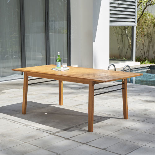 Gloucester Natural Wood Patio Dining Table