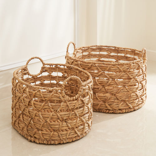 Camila Sandy Two-Piece Storage and Laundry Basket Set