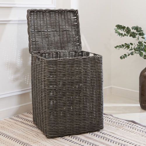 Valeria Gray 16-Inch Laundry Hamper with Handles
