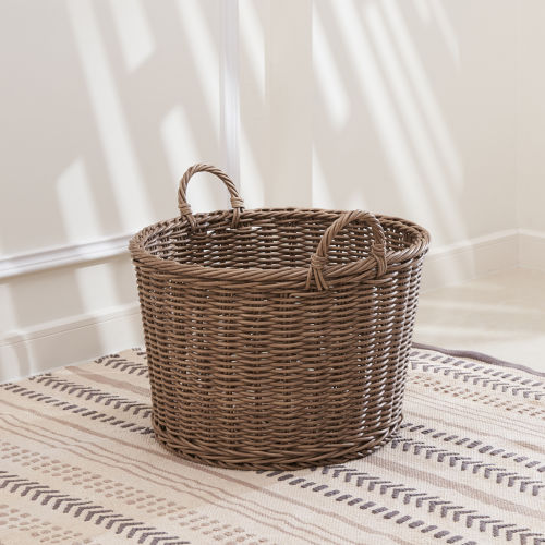 Mila Mocha 19-Inch and Organizing Basket with Handles