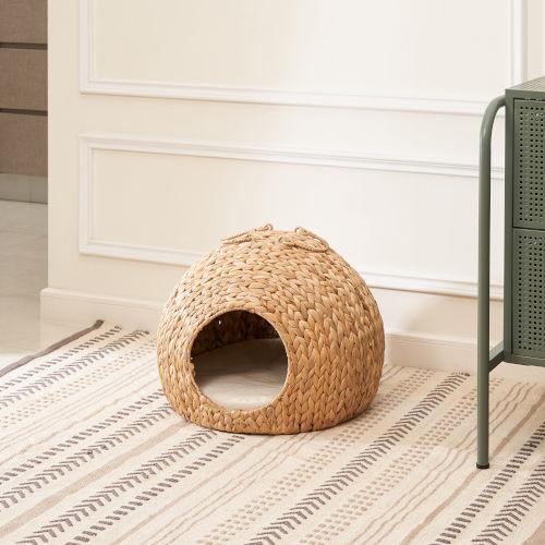 Amelia Sandy Cat House with Cushion