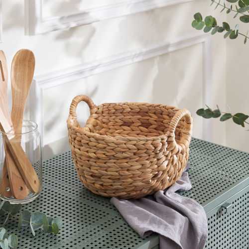 Ellie Sandy Picnic and Grocery Kitchen Organizing Basket Set with Handles, Set of 2