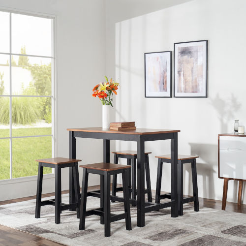 Brighton Mocha Counter Height Five-Piece Dining Set