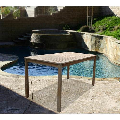 VIFAH Manufacturing Company Renaissance Outdoor Hand-scraped Hardwood Rectangular Table