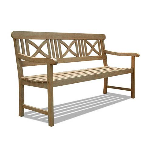 VIFAH Manufacturing Company Renaissance Outdoor Hand-scraped Hardwood Bench