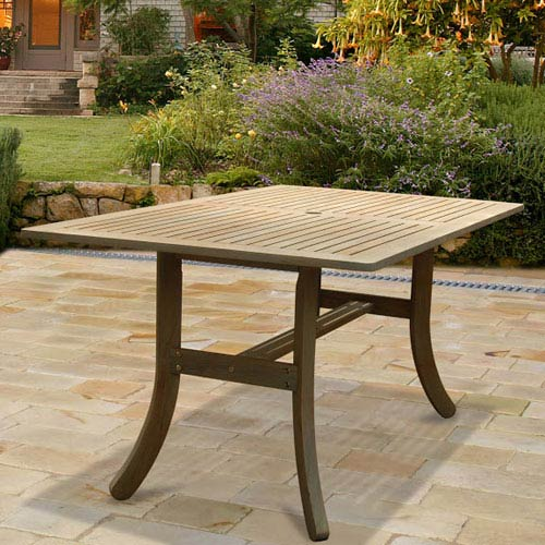 VIFAH Manufacturing Company Renaissance Outdoor Hand-scraped Hardwood Rectangular Table