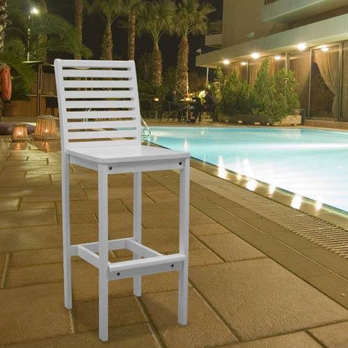 Bradley Outdoor Wood Bar Chair